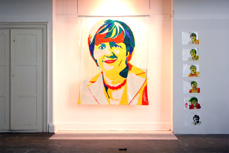Angela Merkel in Windowcolor