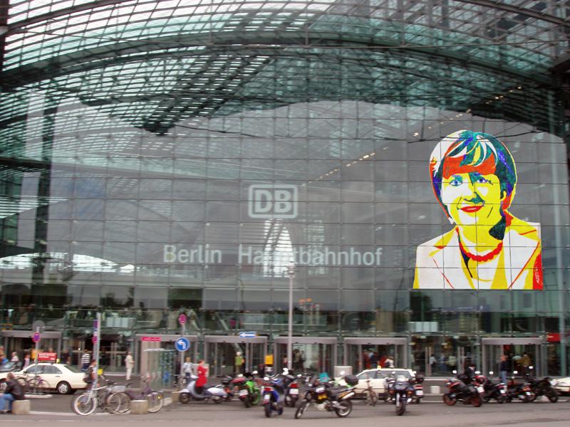 Projektidee Angela Merkel für den Berliner Hauptbahnhof