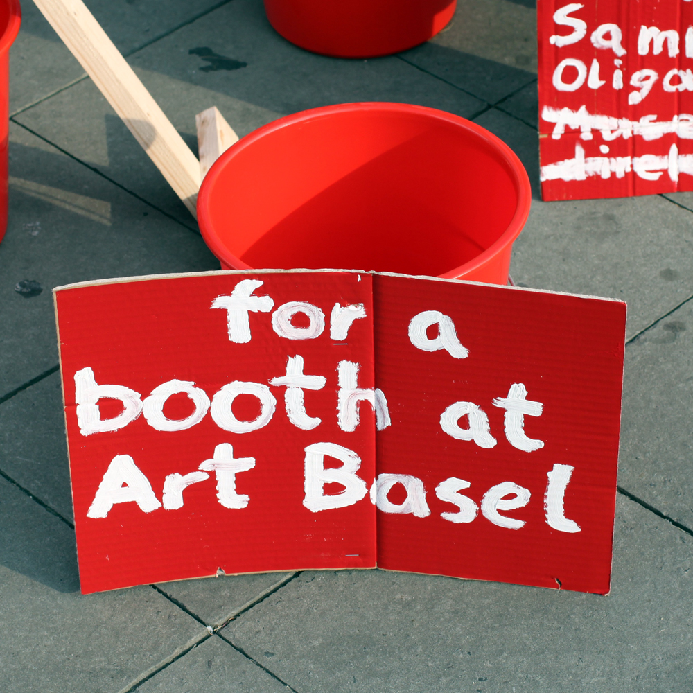 mony for a booth at art basel deinGeld